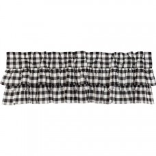 Annie Buffalo Black Check Ruffled Valance 60""