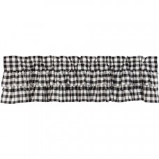 Annie Buffalo Black Check Ruffled Valance 72""