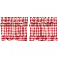Annie Buffalo Red Check Ruffled Tier Set