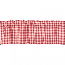 Annie Buffalo Red Check Valance 60""