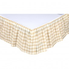 Annie Buffalo Tan Check Bed Skirt