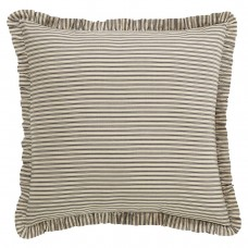 Kendra Black Stripe Fabric Euro Sham