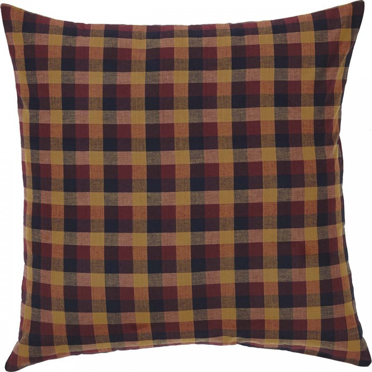 Primitive Check Fabric Euro Sham By Vhc Brands