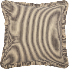 Sawyer Mill Charcoal Ticking Stripe Fabric Euro Sham