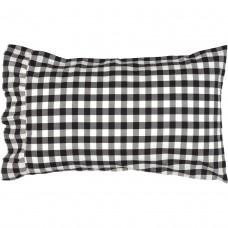 Annie Buffalo Black Check Pillow Case Set