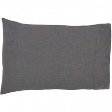 Black Chambray Pillow Case Set