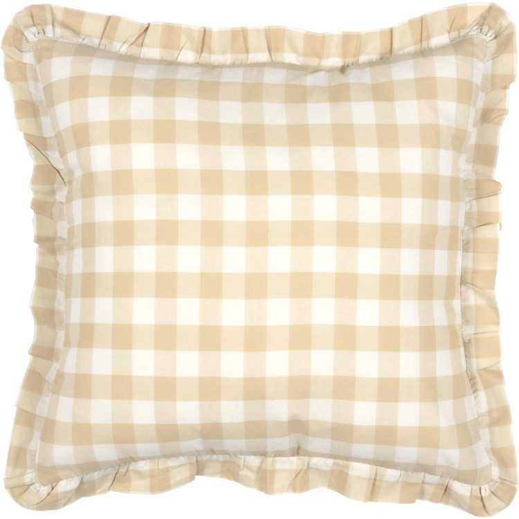 Annie Buffalo Tan Check Fabric Pillow By Vhc Brands