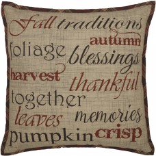Abilene Harvest Stenciled Pillow