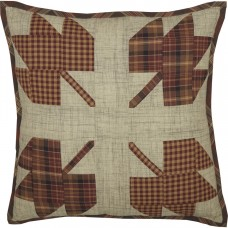 Abilene Harvest Leaf Patch Pillow