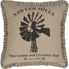 Sawyer Mill Windmill Pillow