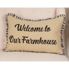 Ashmont Burlap Vintage Welcome To Our Farmhouse Pillow