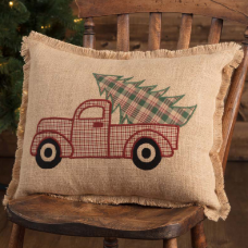 Clement Applique Truck Pillow