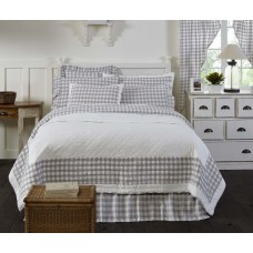 Annie Buffalo Grey Check Quilt