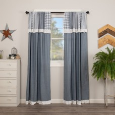 Sawyer Mill Blue Panel with Patchwork Valance Set