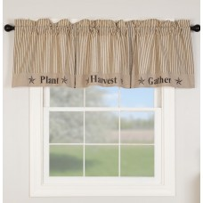 Sawyer Mill Charcoal Gather Valance 72""