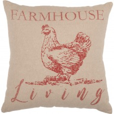 Sawyer Mill Red Farmhouse Living Rooster Pillow