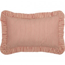 Sawyer Mill Red Ticking Stripe Fabric Pillow