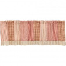 Sawyer Mill Red Patchwork Valance 72""