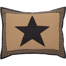 Black Check Star Standard Sham