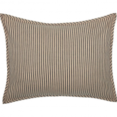 Sawyer Mill Charcoal Ticking Stripe Standard Sham