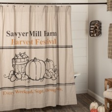 Sawyer Mill Charcoal Harvest Festival Shower Curtain