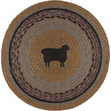 Heritage Farms Sheep Jute Tablemat Set of 6