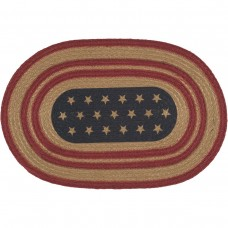 Liberty Stars Flag Jute Placemat Set