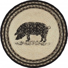Sawyer Mill Pig Jute Tablemat Set of 6