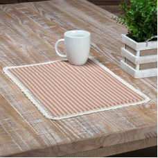 Kendra Red Stripe Placemat Set