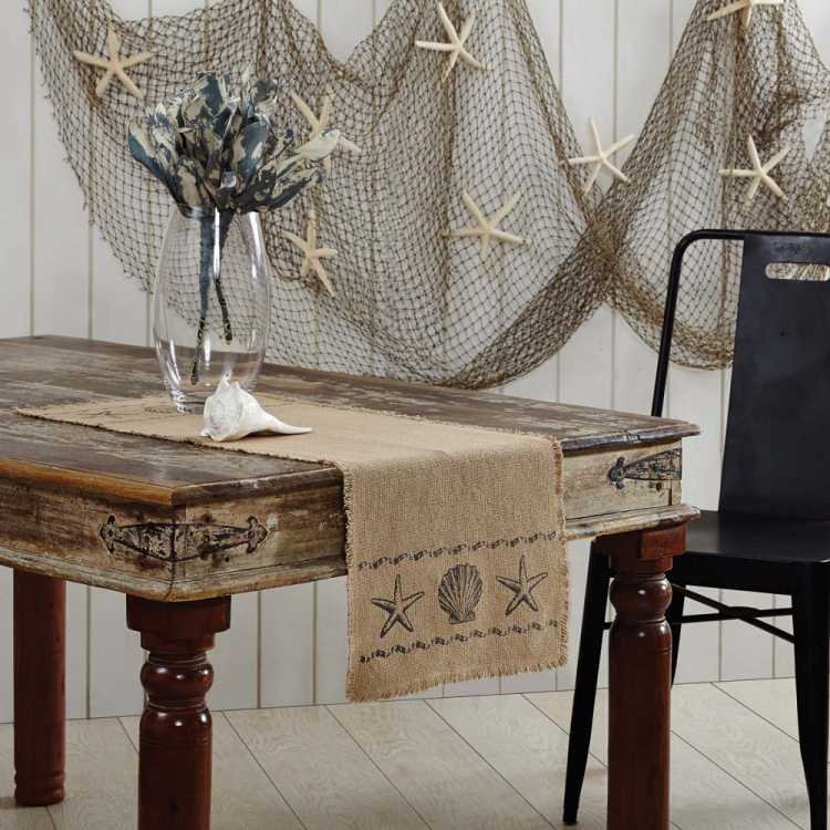 Sandy Tan Burlap Table Runner ...