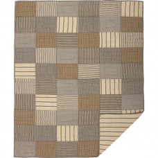 Sawyer Mill Charcoal Block Quilted Throw