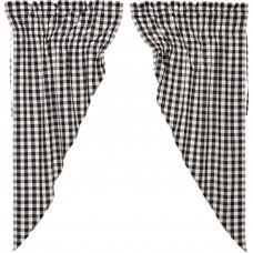 Annie Buffalo Black Check Prairie Curtain Set