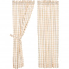 Annie Buffalo Tan Check Short Panel Set