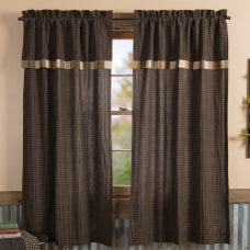 Kettle Grove Short Panel with Attached Block Border Valance Set