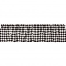Annie Buffalo Black Check Valance 90""