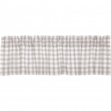 Annie Buffalo Grey Check Valance 60""
