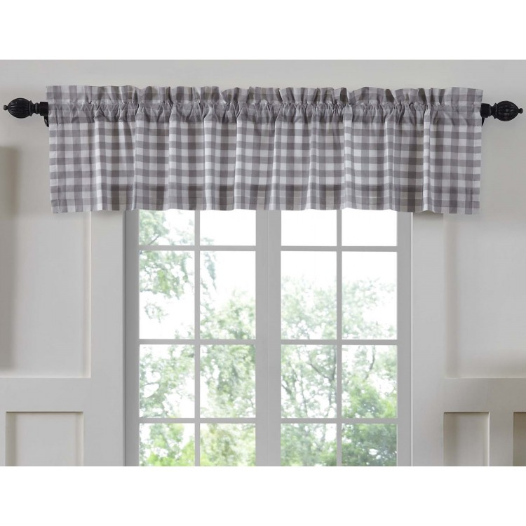 Annie Buffalo Grey Check Valance 60 Quot By Vhc Brands