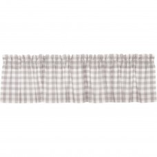 Annie Buffalo Grey Check Valance 72""