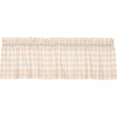 Annie Buffalo Tan Check Valance 60""