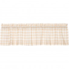 Annie Buffalo Tan Check Valance 72""