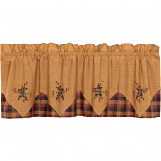Heritage Farms Primitive Star and Pip Valance Layered 60""