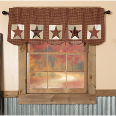 Abilene Patch Block and Star Valance 60""
