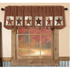 Abilene Patch Block and Star Valance 72""