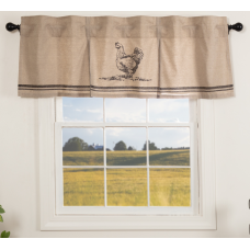 Sawyer Mill Charcoal Chicken Valance 60""