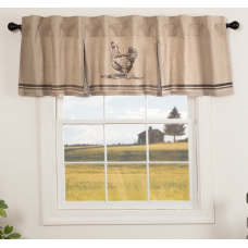 Sawyer Mill Charcoal Chicken Valance 72""