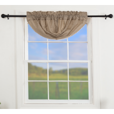 Sawyer Mill Charcoal Ticking Stripe Balloon Valance