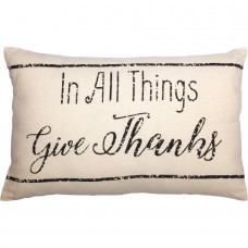 Casement Natural In All Things Give Thanks Pillow