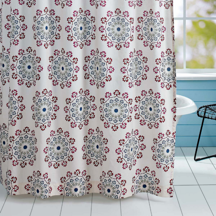 Antigua Shower Curtain By VHC Brands