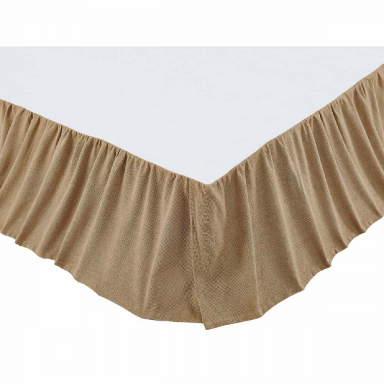 Burlap Natural Ruffled Bed Skirt By Vhc Brands