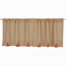 Burlap w/ Red Check Tier Set